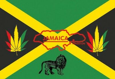5' x 3' Jamaica Reggae Flag Jamaican Caribbean Rasta Lion of Judah Party Banner