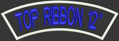 """1 Custom Embroidered Top Rocker Name Patch Back Biker Motorcycle Tag Badge 12"""""""