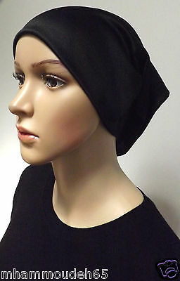 Underscarf Cap Hijab ,under shwal , Black color .