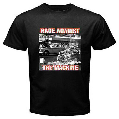 New RAGE AGAINST THE MACHINE RATM '92  Rock Band Men's Black T-Shirt Size S-3XL