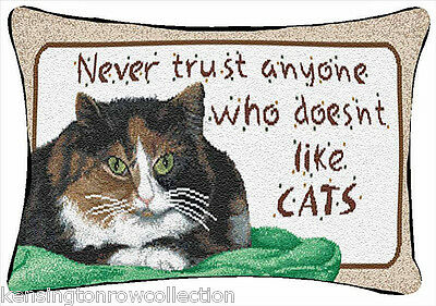 """Throw Pillows - """"never Trust Anyone Who Doesn't Like Cats"""" Pillow - Cat Pillow"""