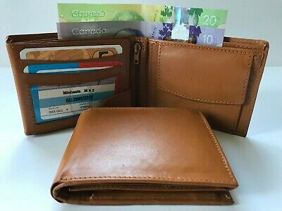 Mens Wallet Leather Credit Cards Holder - Tan (AEW-07)