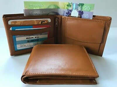 Wholesale Lot Mens Credit Card Leather Wallet  - Tan (AEW-07) - 10 Pieces