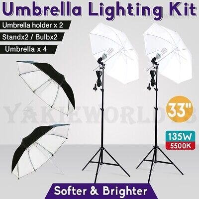 Photography Studio Umbrella Continuous Lighting Photo Reflector Light Stand Kit