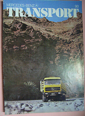 ✪Sales Brochure altes Original Prospekt Mercedes-Benz Transport 90