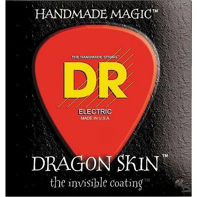 DR DSE-11 Dragon Skin Heavy Clear Coated Electric Guitar Strings (11-50)