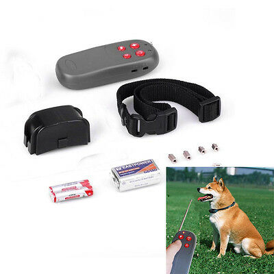 4 in 1 Pet Training Dog Vibrate Electric Shock No Bark Collar Remote Control