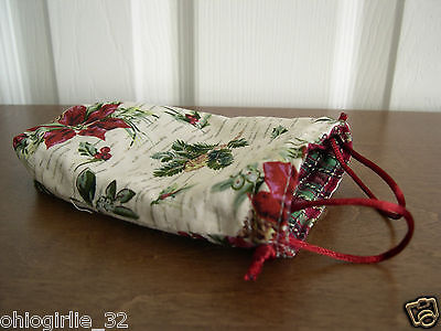 Longaberger~ Reversible Drawstring Liner for 08 Lil Shopper Tree Trimming Basket
