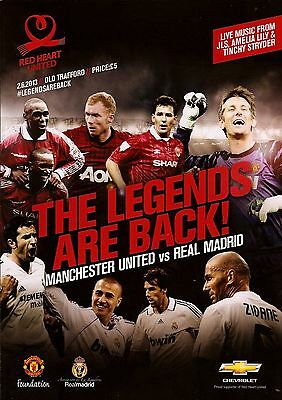 MANCHESTER UNITED v REAL MADRID 'THE LEGENDS ARE BACK' FRIENDLY 2013 MINT