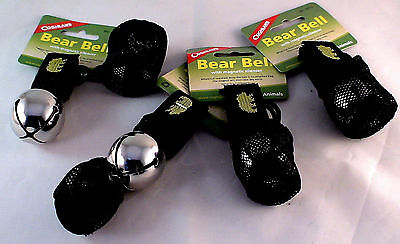 4 Pk Bear Bell Silver-Includes Silencer Repels Many Unwanted Preditors Keep Safe
