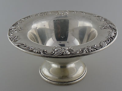 Vintage S.Kirk & Son Inc. Flower Pattern Sterling Silver Bawl
