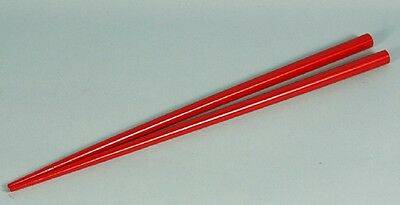 Chopsticks | 1 pair | Red lacquered Bamboo | Chinese