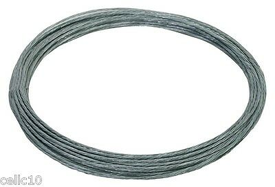 6/20 Galvanized Guy Wire - 1000' - EZ 60A 20 Gauge Cable for Antenna Mast Guying