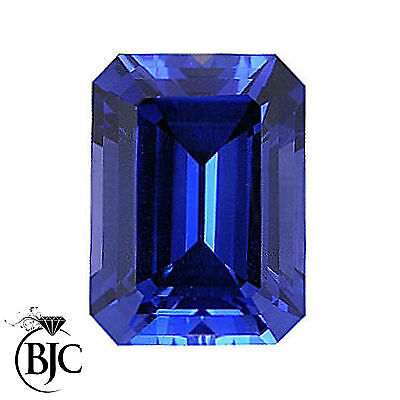 BJC® Loose Natural Blue & Black Sapphires All Emerald Cut Multiple Size Choices