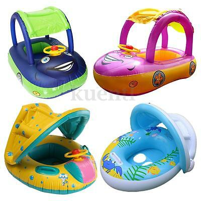 Inflatable Baby Toddler Kids Float Floating Seat Car Swimming Pool Outdoor Toy