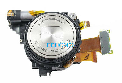 Original Silver Lens Zoom Unit For Canon Powershot S100 Cameral with CCD