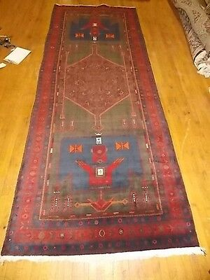 Authentic Hand Made Antique Persian Bidjar Area Rug 4.10 X 12.5 La19