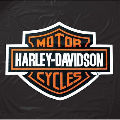 Harley Davidson Black Vinyl Pool Table Cover