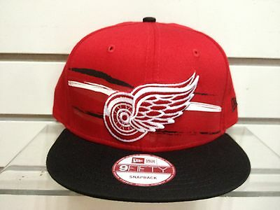 003e9f09245 DETROIT RED WINGS New Era Snapback cap hat fantab style NHL HOCKEY VINTAGE  RARE