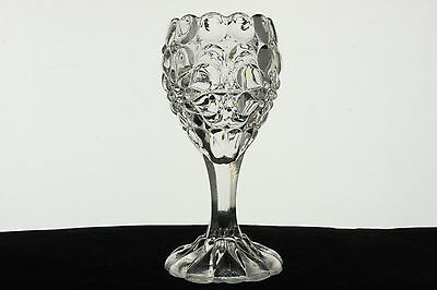 Bellaire Goblet Glass Crystal Queen'S Necklace Pattern Toothpick Holder Eapg