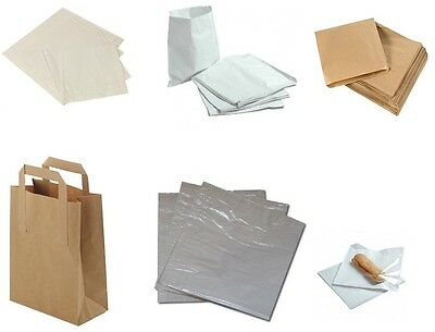 Paper Bags in White Brown Windowed & Kraft for Kids Party Lunch Sandwich Sweet.