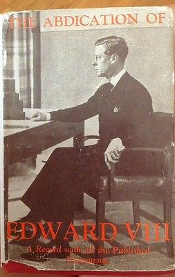 The Prince Of Wales Edward Viii Abdication Book A Record 1937