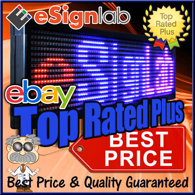 """LED Sign 3 Color RBP Programmable Scrolling Outdoor Message Display 19"""" x 69"""""""