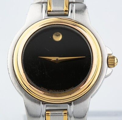 Two-Tone Stainless Steel Women's Movado Quartz Watch w/ Two-Tone Band