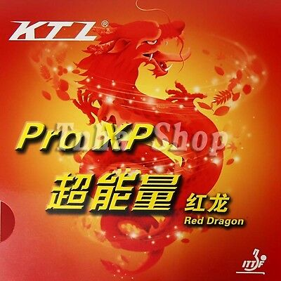 Free shipping KTL Pro-XP Red Dragon Pips-In Table Tennis Rubber with sponge