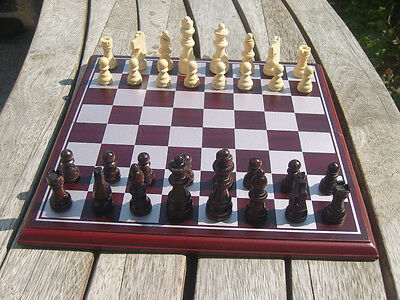11 inch Folding Wooden Chess Set Wood Pieces Table Board Games Collect Toy Gift