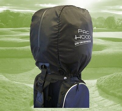 Golf Bag Pac Hood Black Universal Rain Cover Hood Protection, Elasticated