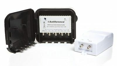 Masthead Amplifier Set Variable Gain 1-20dB Aerial Booster Kit Saorview Freeview