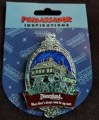 Disney 2007 DLR Haunted Mansion Pinbassador LE Pin Hitchiking Ghosts SIGNED!