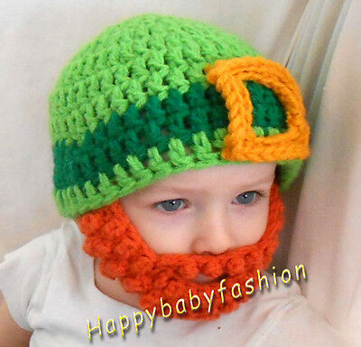 Baby Boy Crochet Beanie with Mustache size 0-3,3-6, 6-12 Months & 1-3 years