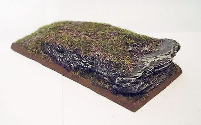 Wargames 100mm x 50mm Rocky Slate Chariot Resin Display Base