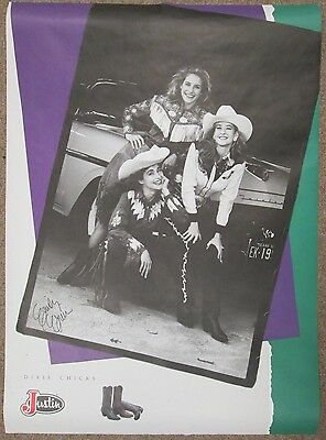 The Dixie Chicks SIGNED Poster made by Justin Boots (pre-Natalie Maines)