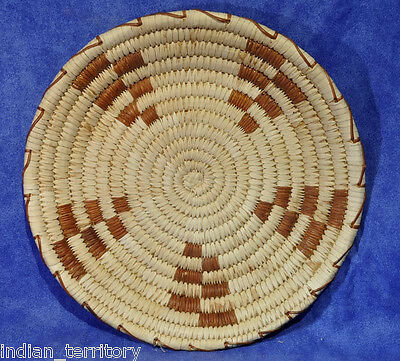 Papago Indian Basketry Tray with Five-Petal Motif c.1960