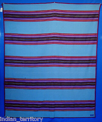 Pendleton Blanket  Summer Shawl, Striped, Blue c.1930