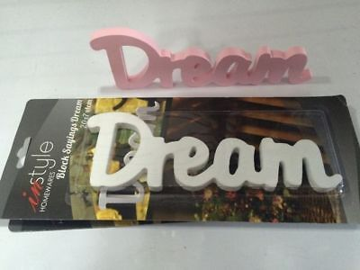 24 x Inspirational Words Wood display plaque  Dream 4 cols wholesale bulk lot