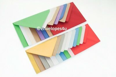 25 High Quality Coloured C6 114x162mm Envelopes for A6 Cards 100gsm FREE UK P&P