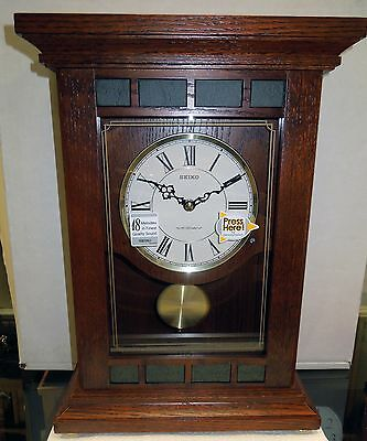 Seiko Musical Mantel Clock- Plays One Of 18 Hi-Fi Melodies On The Hour Qxw421