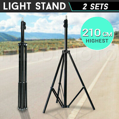2PCS 2.2M Photography Heavy Duty Adjustable Stand For Backdrop Softbox Lighting
