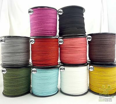 3mm Faux Suede Cord Leather Jewelry Making/Beading/Thread flat DIY Lace 2 Meter