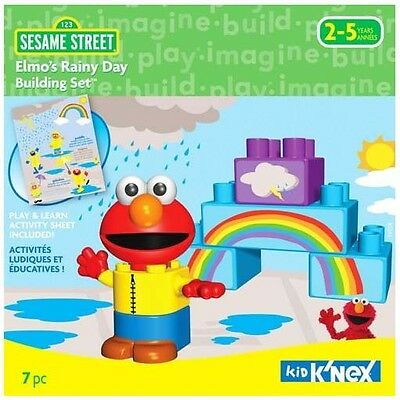 Kid K'Nex KNex Sesame Street Elmo's Rainy Day Building Set