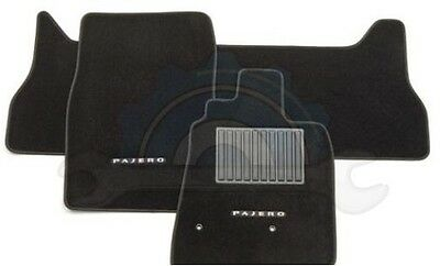 Mitsubishi Pajero Floor Carpet Mats 2008-2017 New Genuine Front & rear LWB only