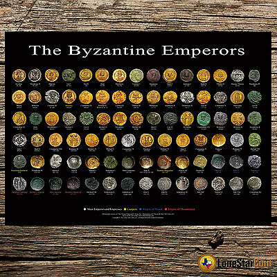 The Byzantine Emperors - Coin Wall Poster