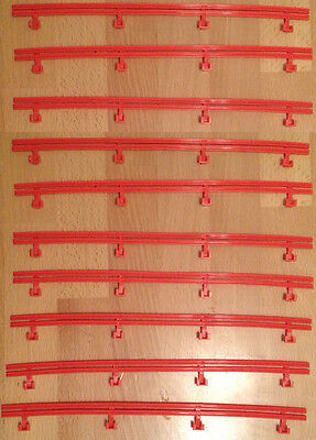 MICRO SCALEXTRIC spares / accessories - BARRIERS - G108 / L7559 - RED x 10