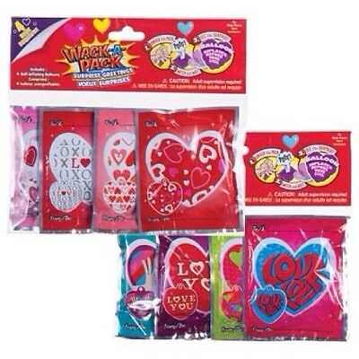 8 COUNT Wack-A-Packs {{ LOVE }} Self-Inflating Heart Balloons 2 PACKS = 8 TOTAL