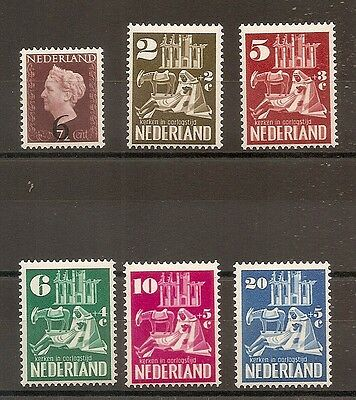Timbre Pays Bas Netherlands Nederland N°541/546 Neuf* Mh Cote +66 Euros