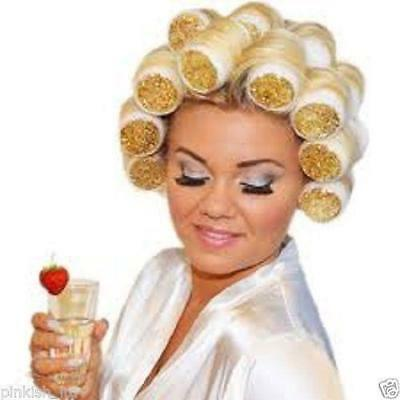 White & Gold Glitter Sleep in Rollers | Bridal - Kirby Grips - Soft Curlers